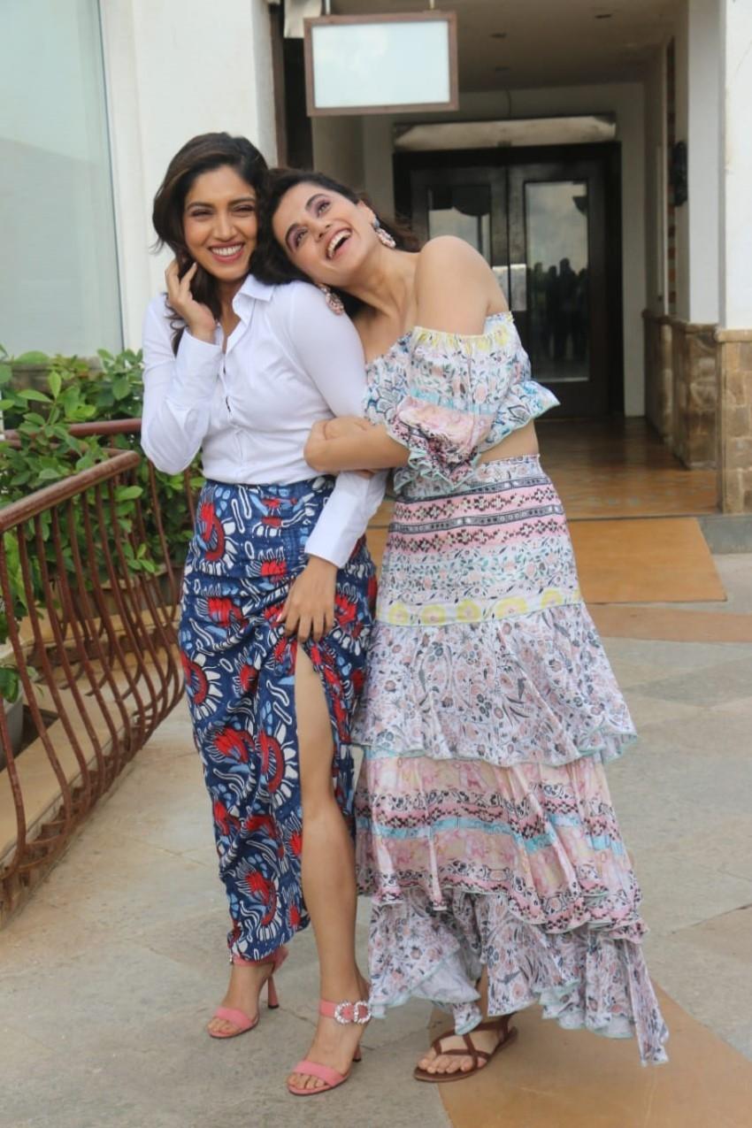 Bhumi Pednekar & Taapsee Pannu at a photoshoot to promote Saand Ki Aankh in Mumbai Photos