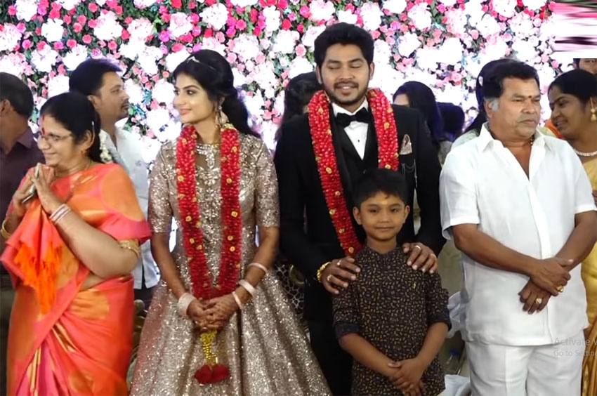 Indian comedian Mayilsamy Son Wedding Reception Photos