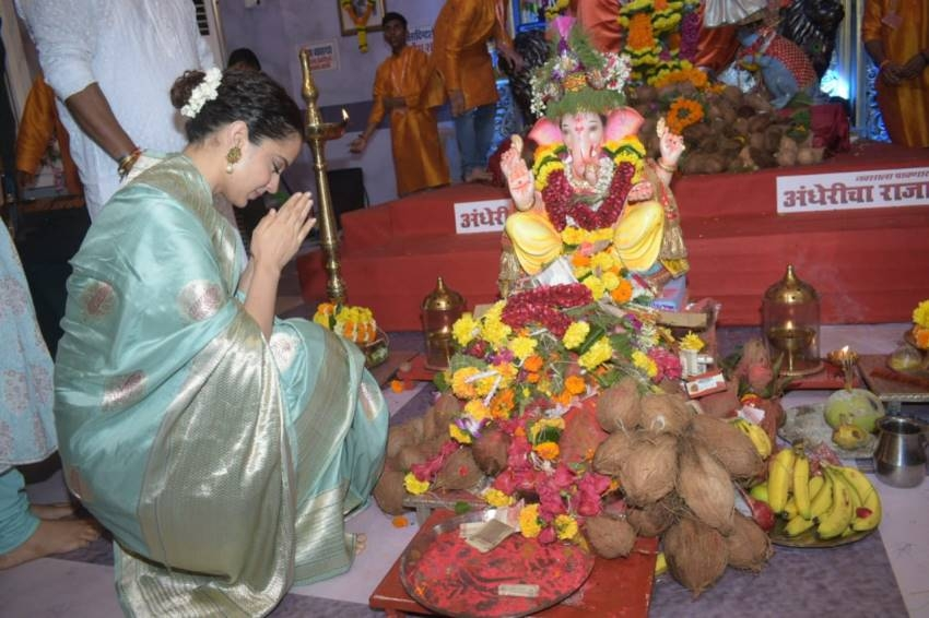 John Abraham, Kajal Aggarwal & Others At Ganapti Pooja Photos