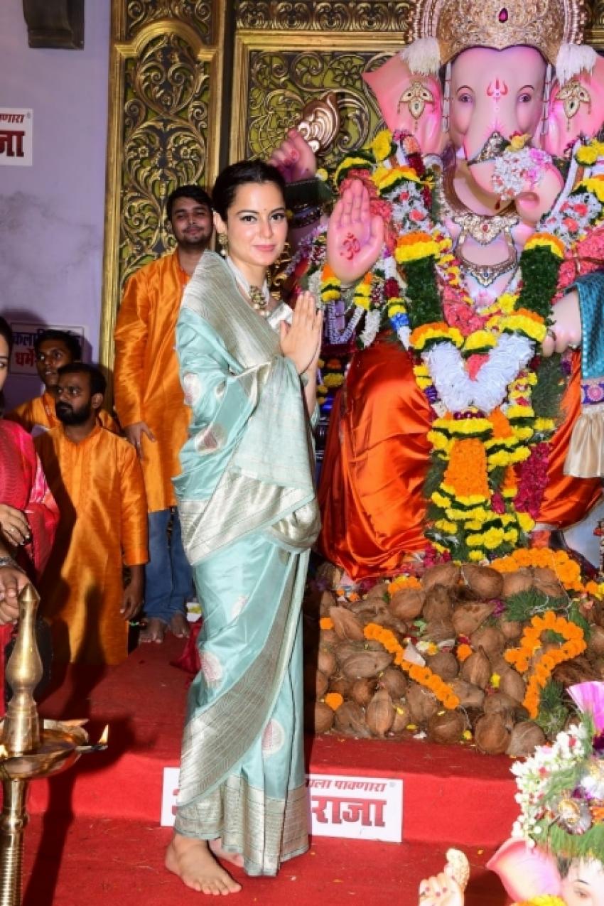 Kangana Ranaut Visit Ganesh Mandir In Mumbai Photos
