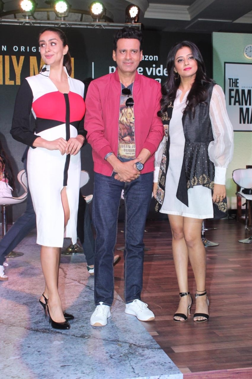 Manoj Bajpai, Priyamani and others at the launch of the Amazon Prime web series The Family Man Photos