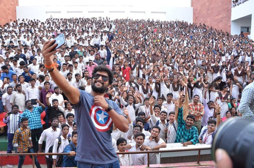 Nani's pics from Gang Leader Pre Release Tour Photos
