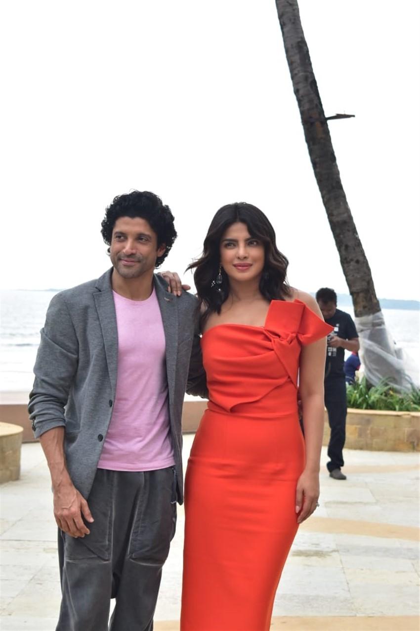 Priyanka Chopra With Star Cast Promote 'The Sky Is Pink' In Mumbai Photos
