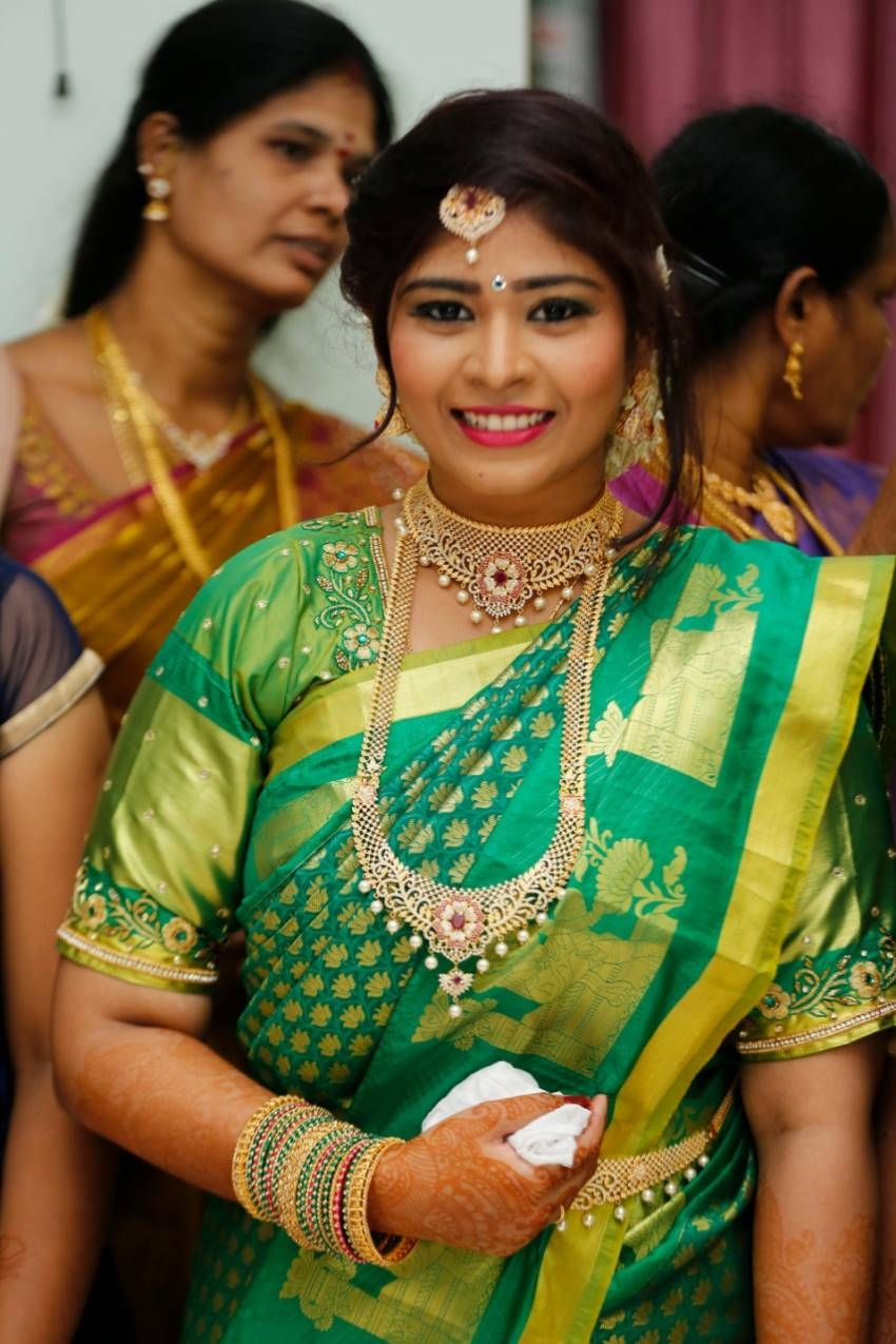 Producer M. Saravanan Entered Wedlock With Sravya Keerthana Photos