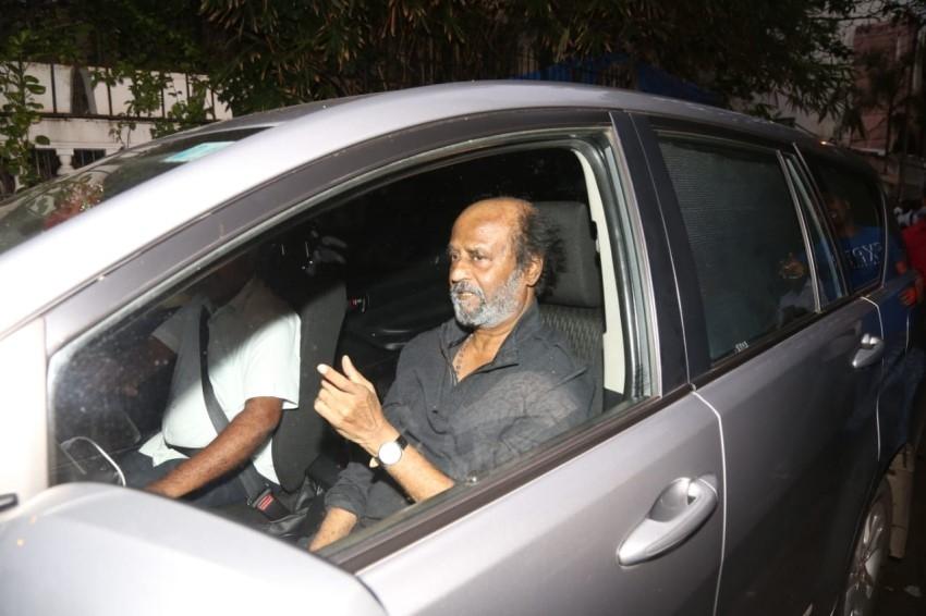 Rajinikanth snapped at a Dubbing Studio in Mumbai Photos