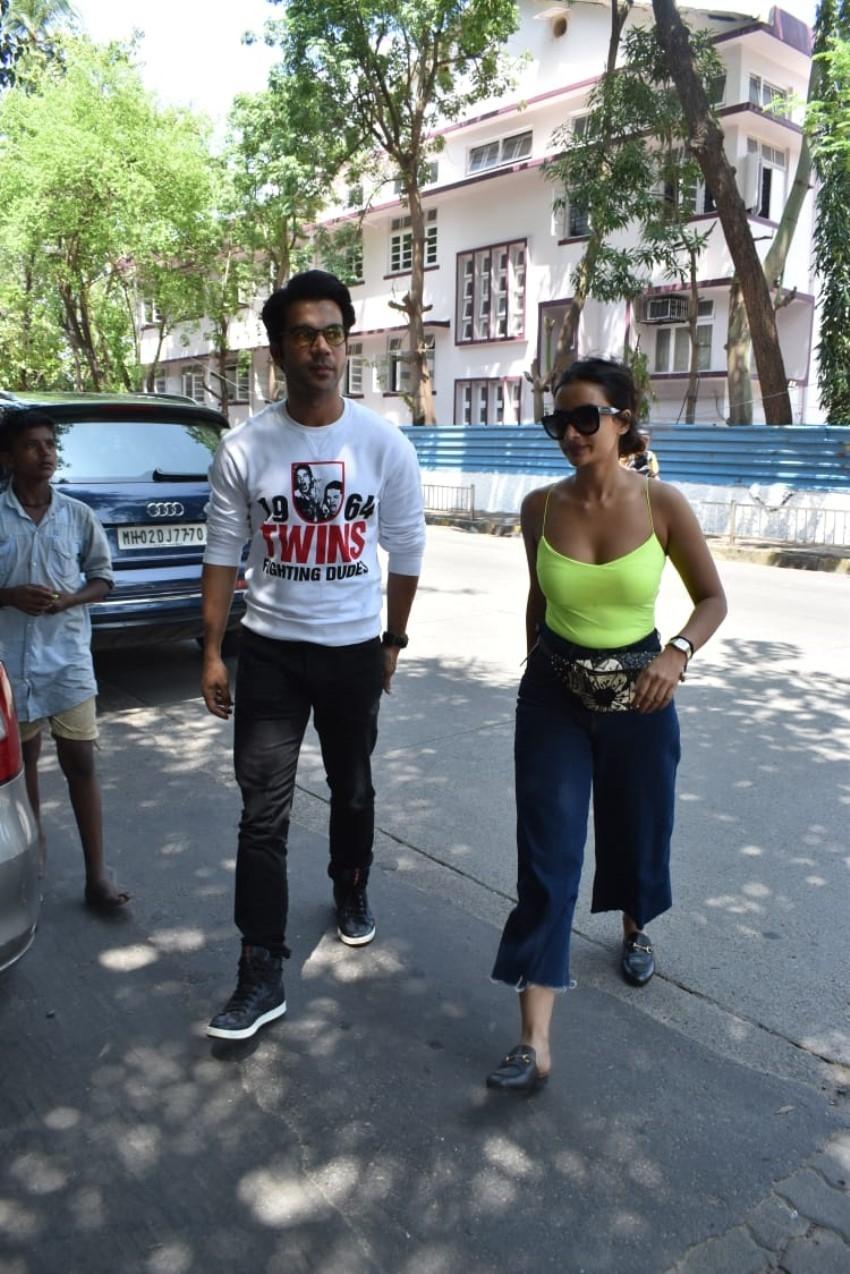 Rajkummar Rao & Patralekha spotted at Kitchen Garden in Mumbai Photos