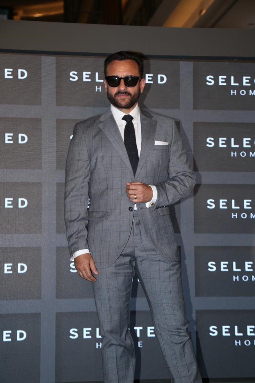 Saif Ali Khan Announced As The Brand Ambassador For The Menswear Brand 'Selected Homme' In Mumbai Photos