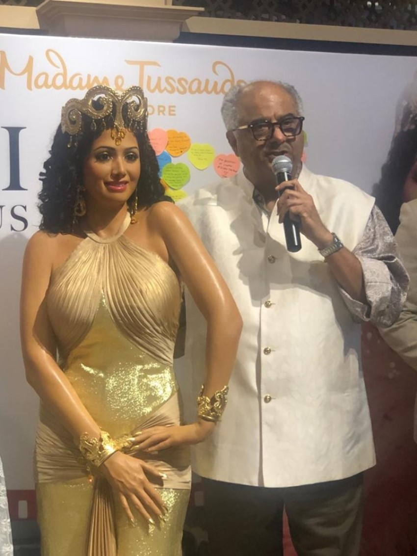 Sridevi Wax Statue at Madame Tussauds In Singapore Photos