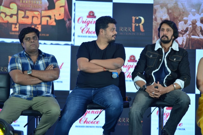 Sudeep, Akanksha Singh & Ravichandran At Pre Release Press Meet In Bangalore Photos