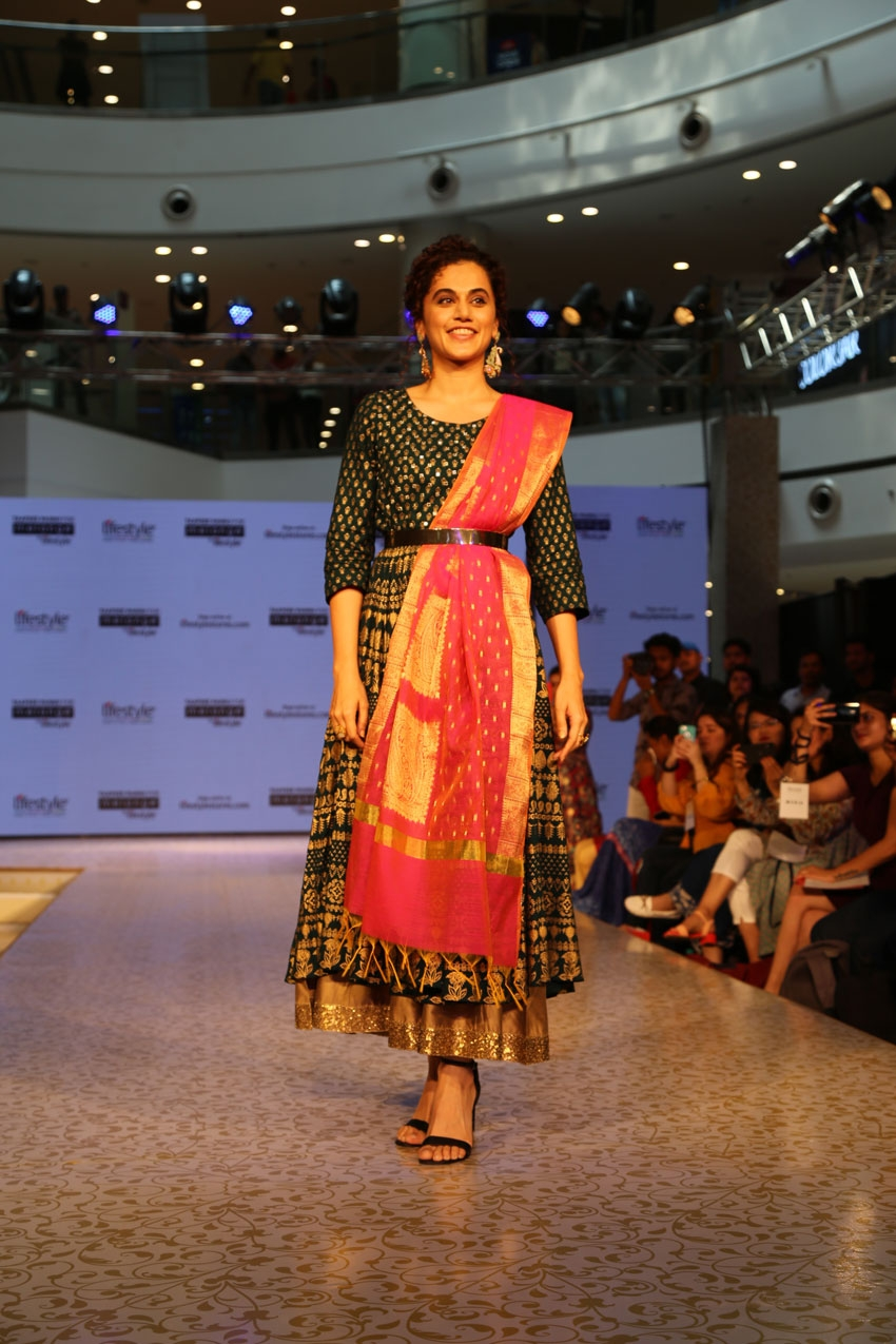 Taapsee Pannu walks the ramp for a lifestyle brand, Melange in New Delhi Photos
