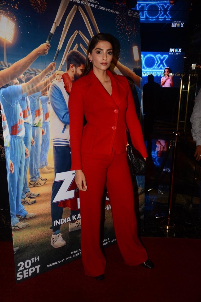 The Zoya Factor Special Screening For Mumbai Indians Cricket Team Photos