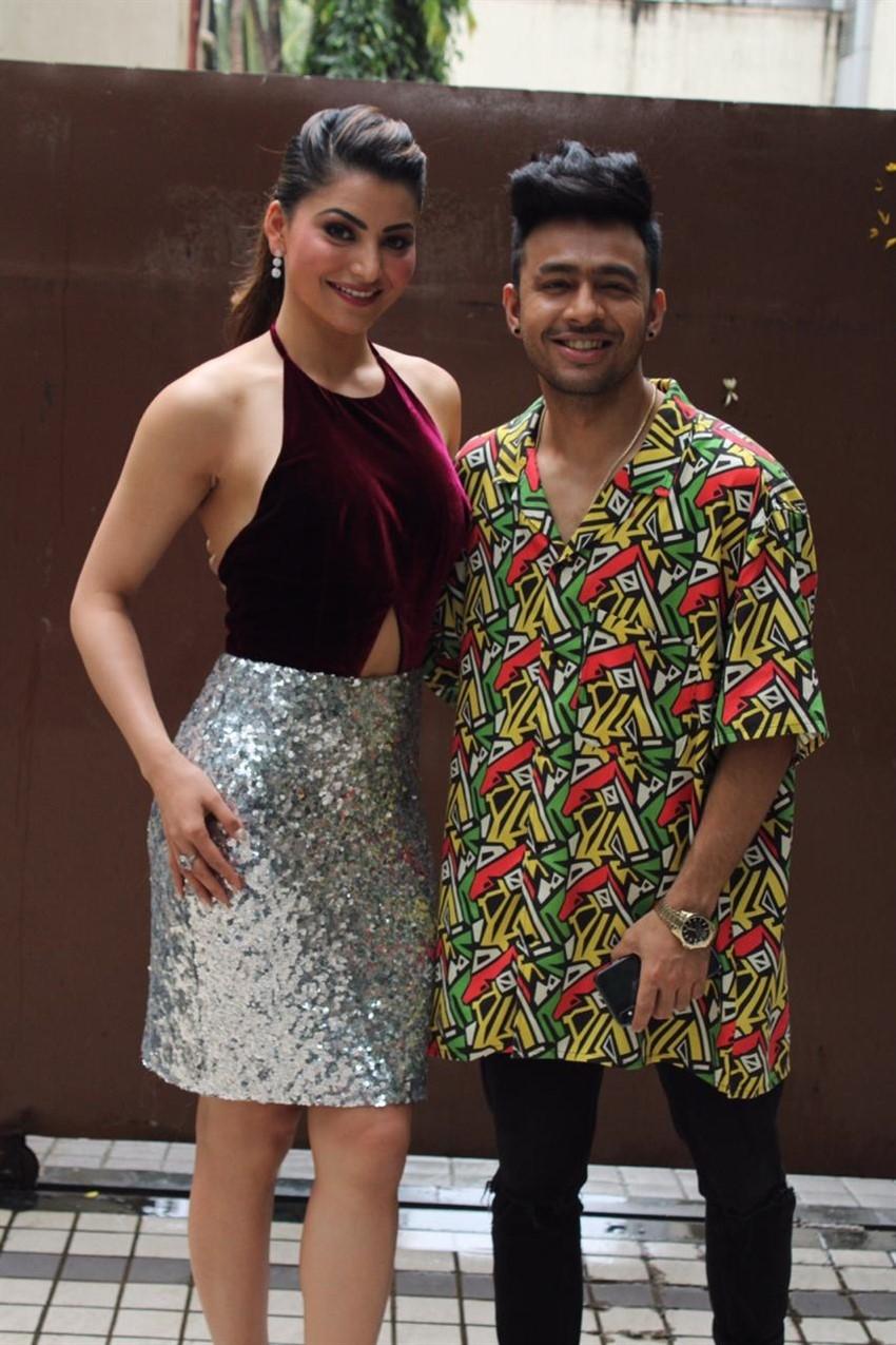 Urvashi Rautela & Tony Kakkar at the Promotions of song 'Bijli Ki Taar' in Mumbai Photos