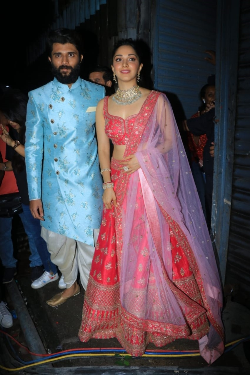 Vijay Devarakonda & Kiara Advani At Filmalaya Studio Photos