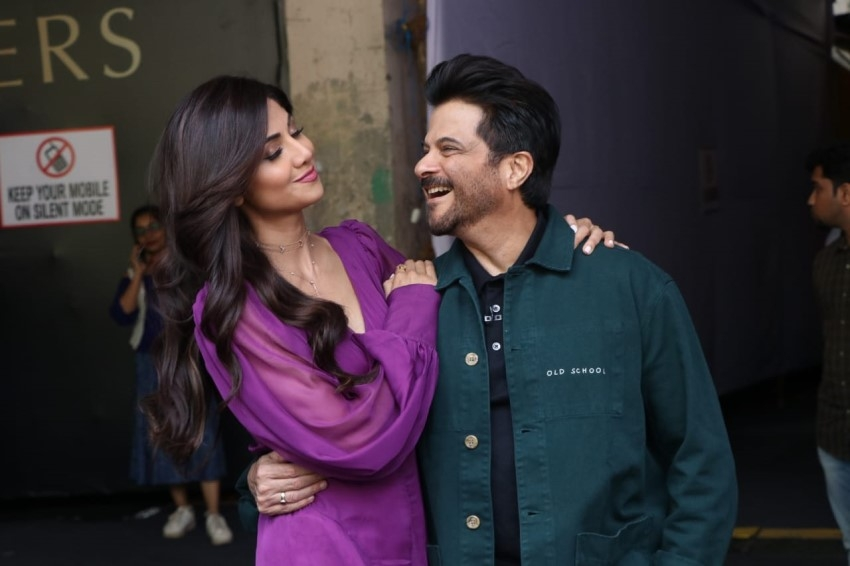 Anil Kapoor, Shilpa Shetty & Farah Khan spotted at Filmistan Studio in Mumbai Photos