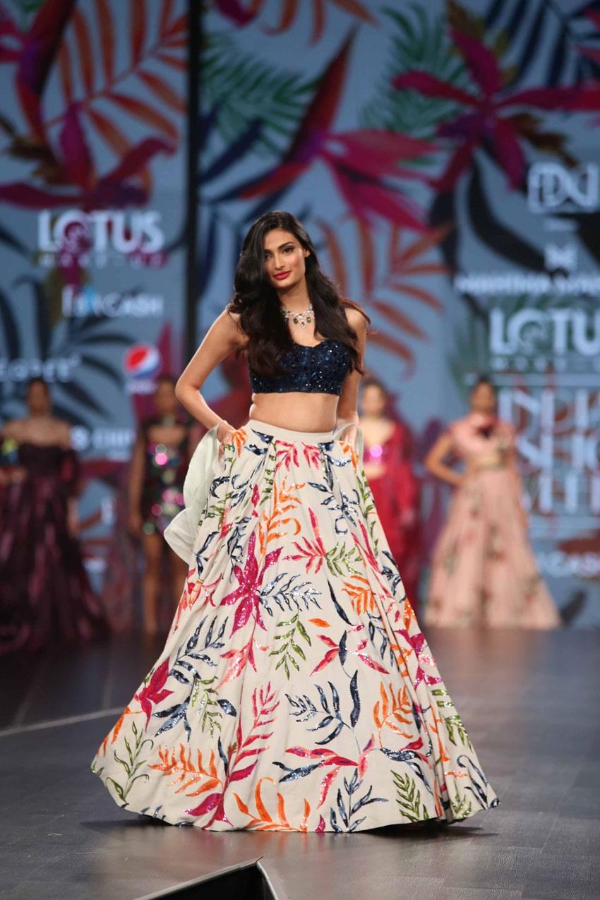 Athiya Shetty Walks The Ramp At Lotus Fashion Week 2019 Photos