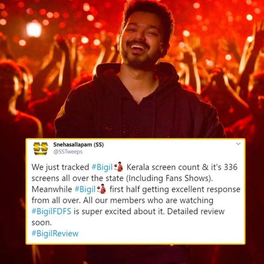 Bigil Movie Social Media Audience Reaction Photos