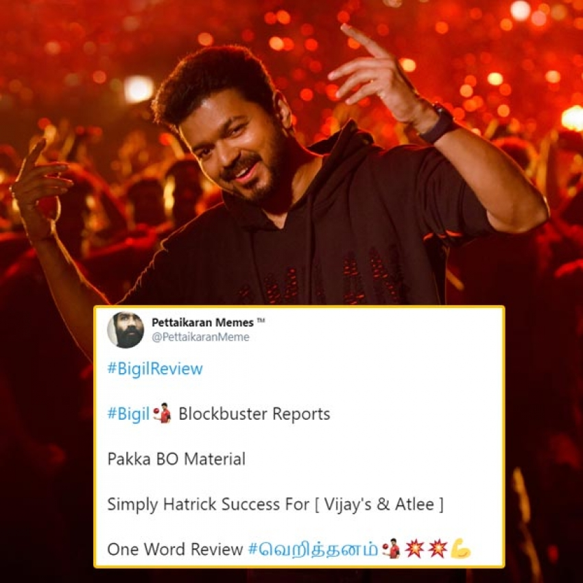 Bigil Movie Social Media Audience Reaction Photos