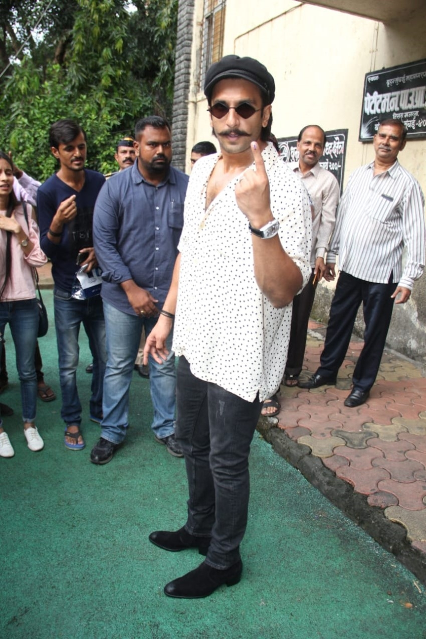 Celebs Vote For Assembly Election 2019 In Mumbai Photos