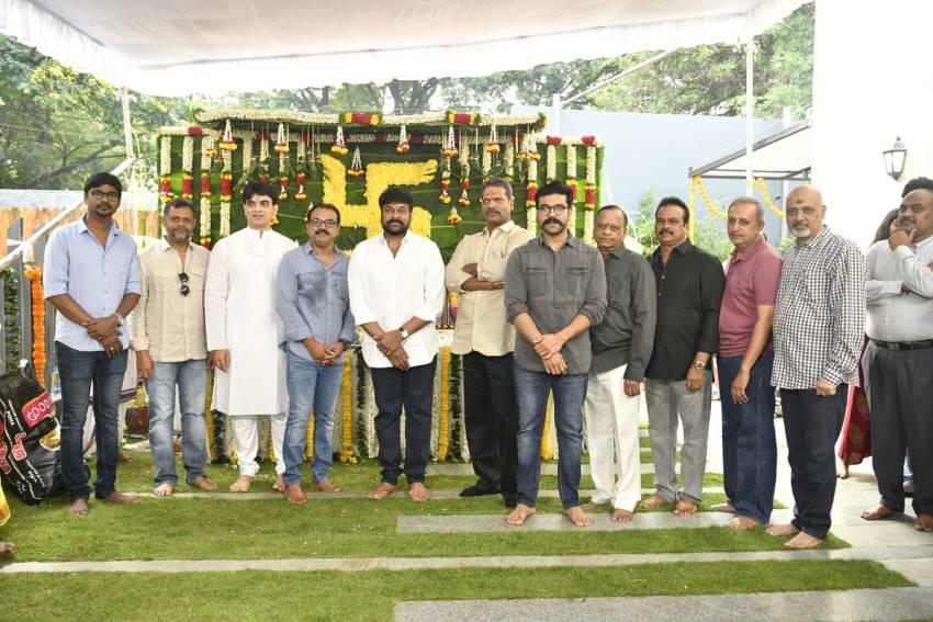 Chiranjeevi & Koratala Siva New Movie Pooja Photos