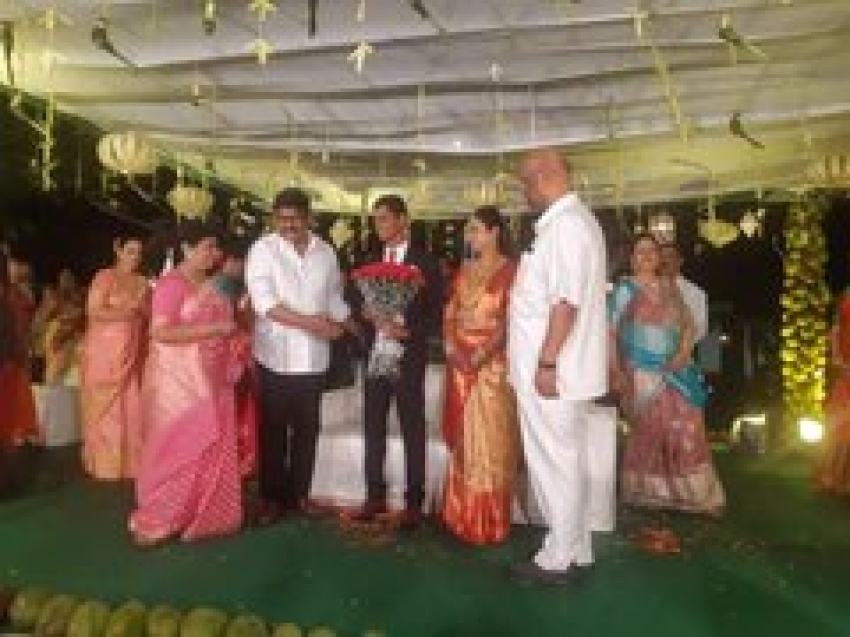 Chiranjeevi At Baswaraj Srinivas Rao Daughter Marriage Photos