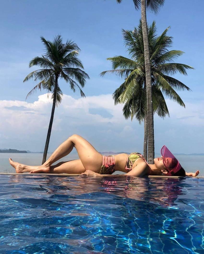 Dream Girl Movie Heroine Nushrat Bharucha Bikini Holiday Photos