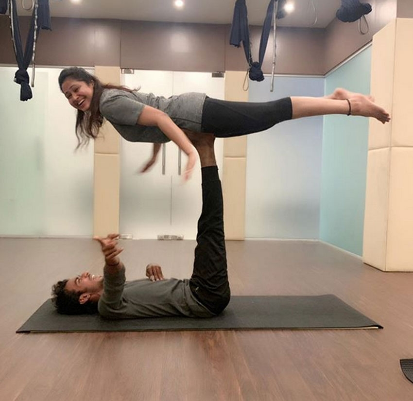 Indian Celebs Performing Yoga Photos