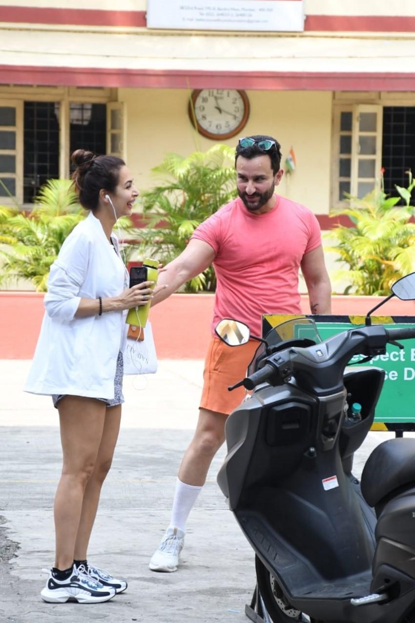 Malaika Arora and Saif Ali Khan spotted at I Think Fitness in Mumbai Photos