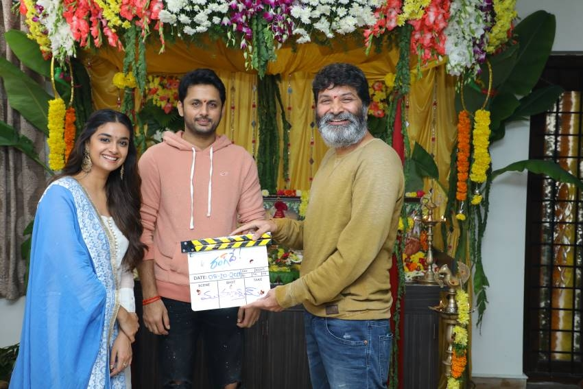 Nithin and Keerthy Suresh's 'Rang De' Movie launch Photos