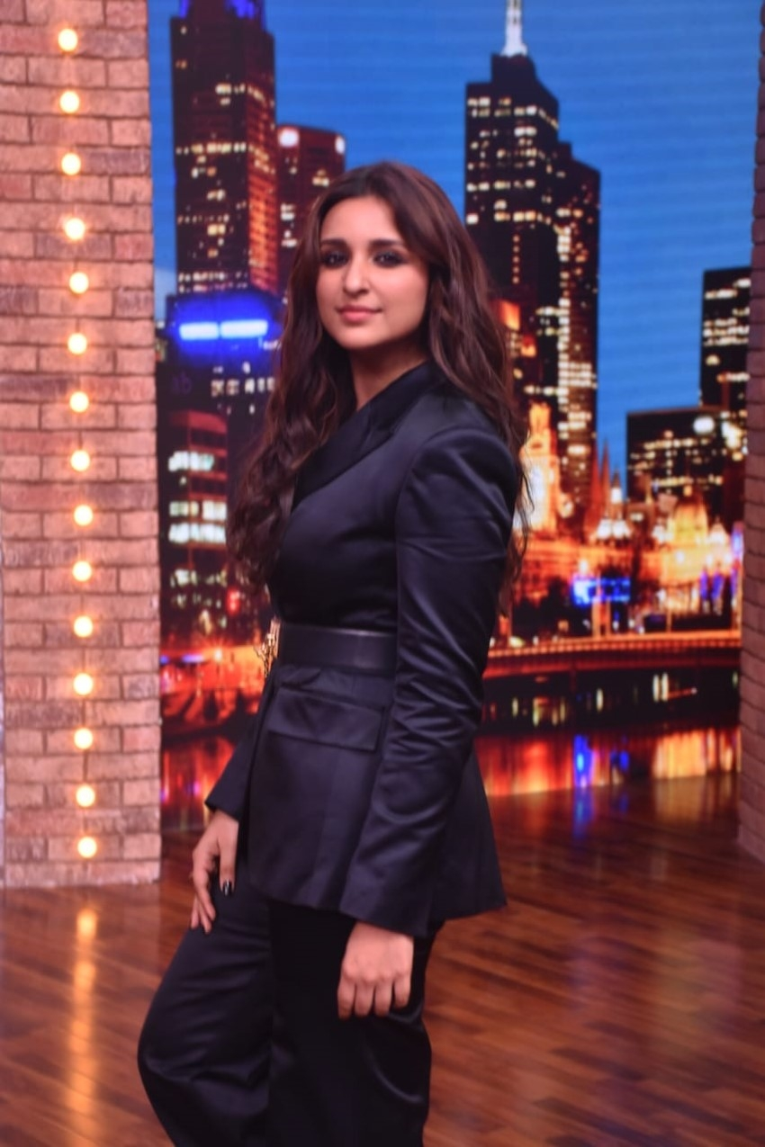 Parineeti Chopra & Badshah snapped on the sets of Movie Masti With Maniesh Paul Photos
