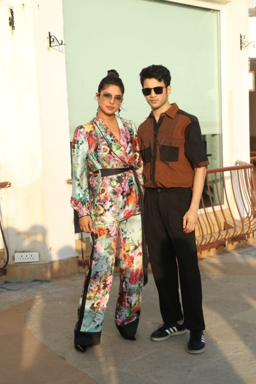 Priyanka Chopra & Rohit Saraf snapped promoting their film The Sky Is Pink At Sun n Sand, Juhu Photos