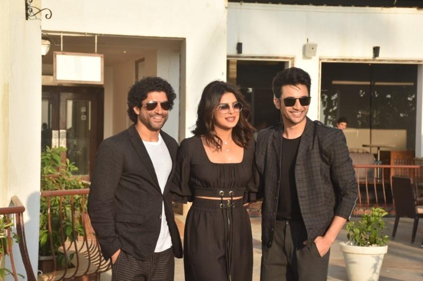 Priyanka Chopra, Farhan Akhtar & Rohit Saraf snapped promoting their film 'The Sky Is Pink' Photos
