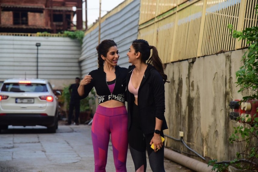Rakul Preet Singh & Sophie Choudry snapped at Gym Photos