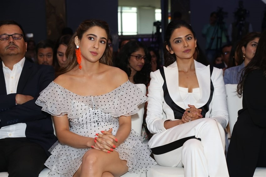 Sara Ali Khan & Rakul Preet Singh At IIFA 2019 Press Conference In New Delhi Photos