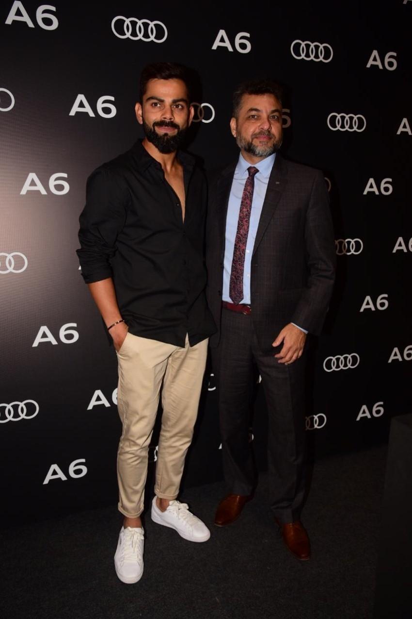 Virat Kohli At The Launch Of New Audi A6 Photos