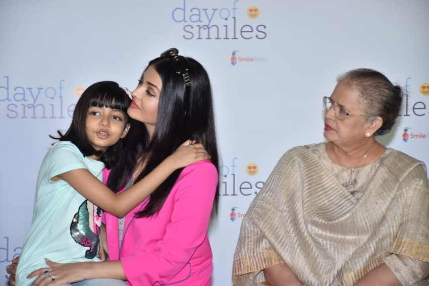 Aishwarya Rai Bachchan with her mother & daughter Aaradhya Bachchan snapped at an event Photos