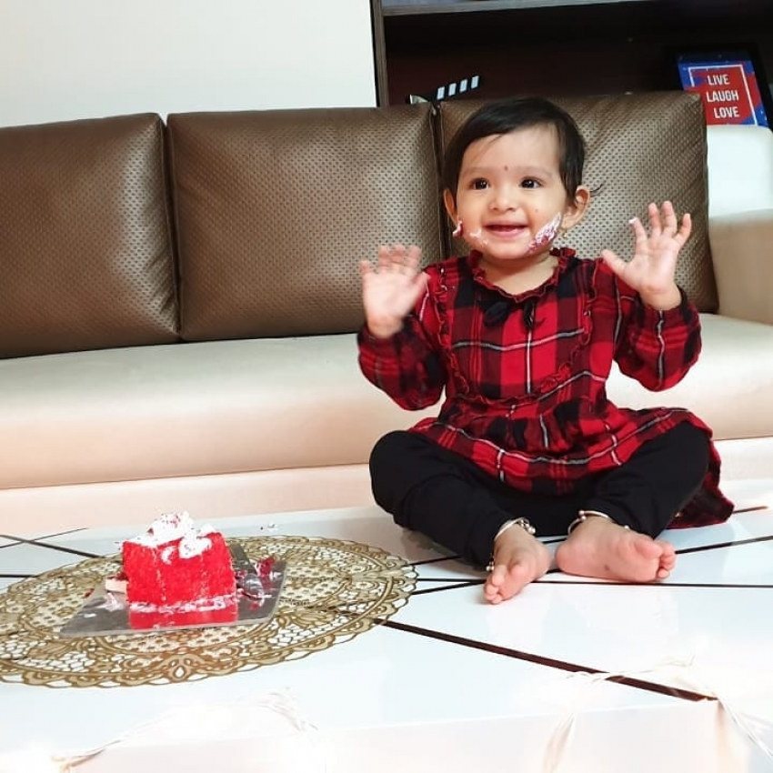 Ajay Rao Daughter Cherry 1st Birthday Celebration Photos