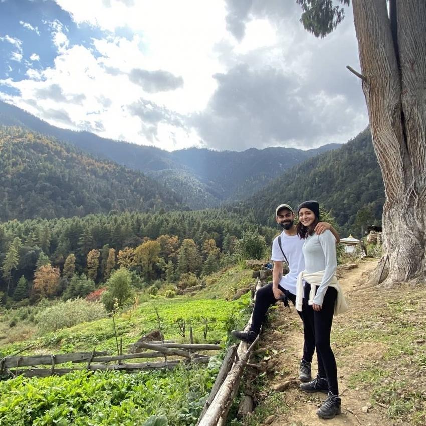 Anushka Sharma Celebrates Virat Kohli At Bhutan Photos