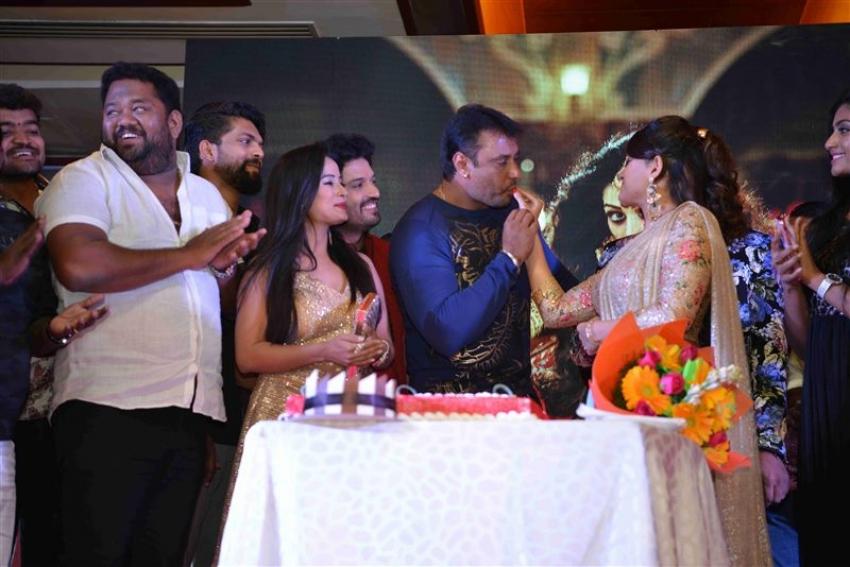 Darshan Release Radhika Kumarswamy's Damayanti Movie Audio Photos
