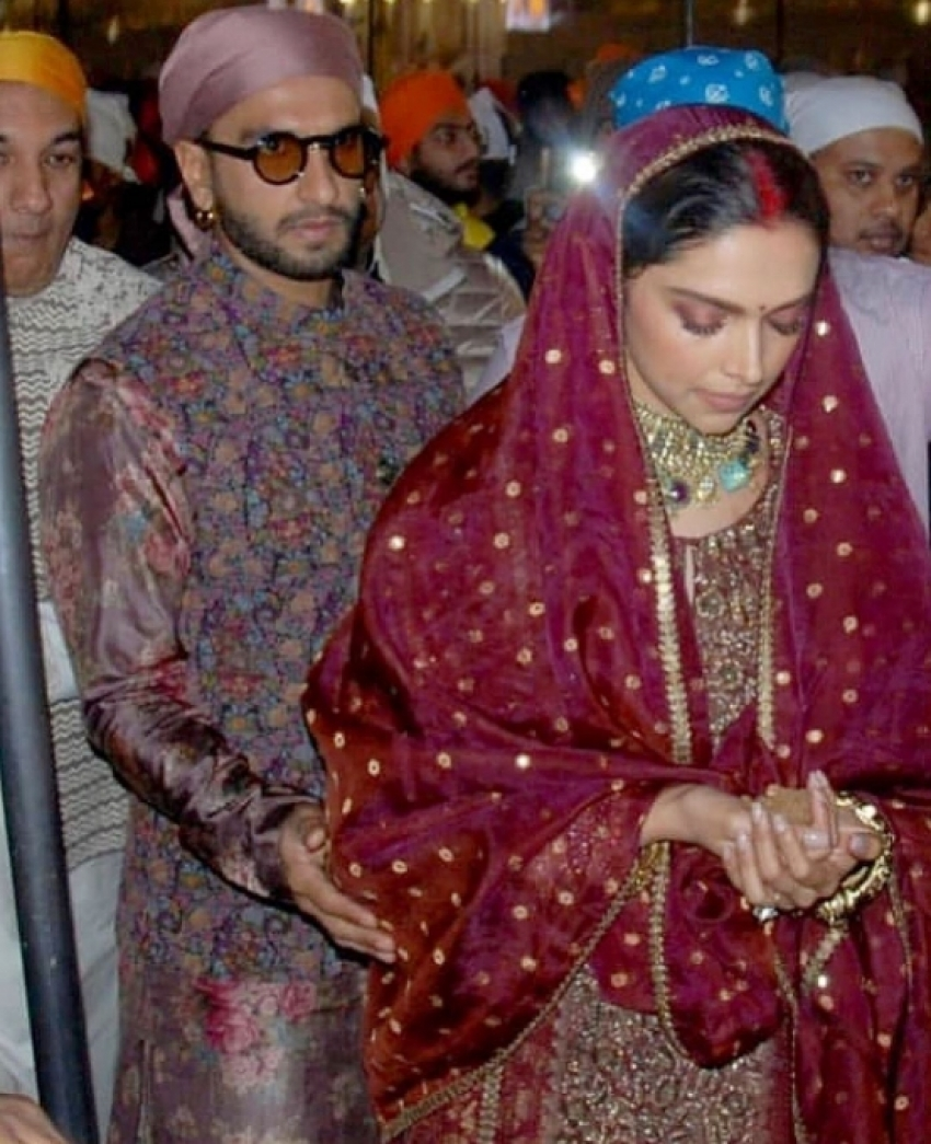 Deepika Padukone And Ranveer Singh Visit Golden Temple Photos