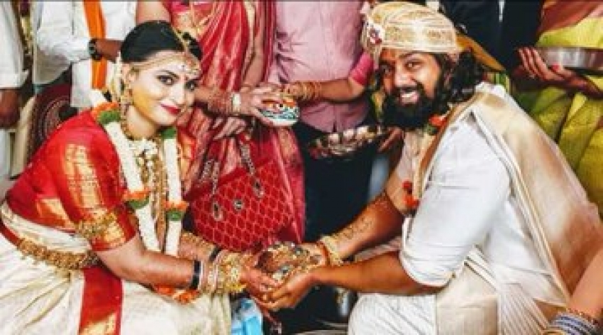Dhruva Sarja And Prerana Marriage Photos