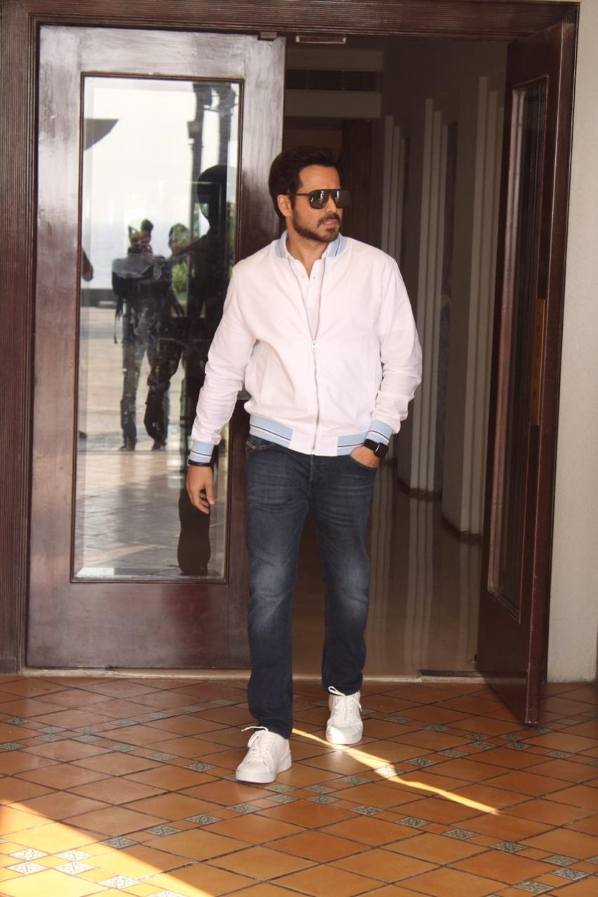 Emraan Hashmi & Vedhika Kumar snapped promoting their film The Body Photos