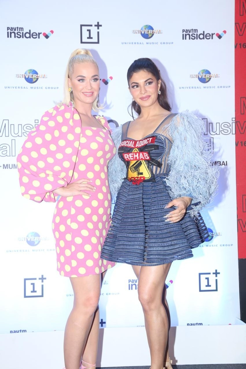Katy Perry & Jacqueline Fernandez at press conference for OnePlus Music Festival 2019 Photos