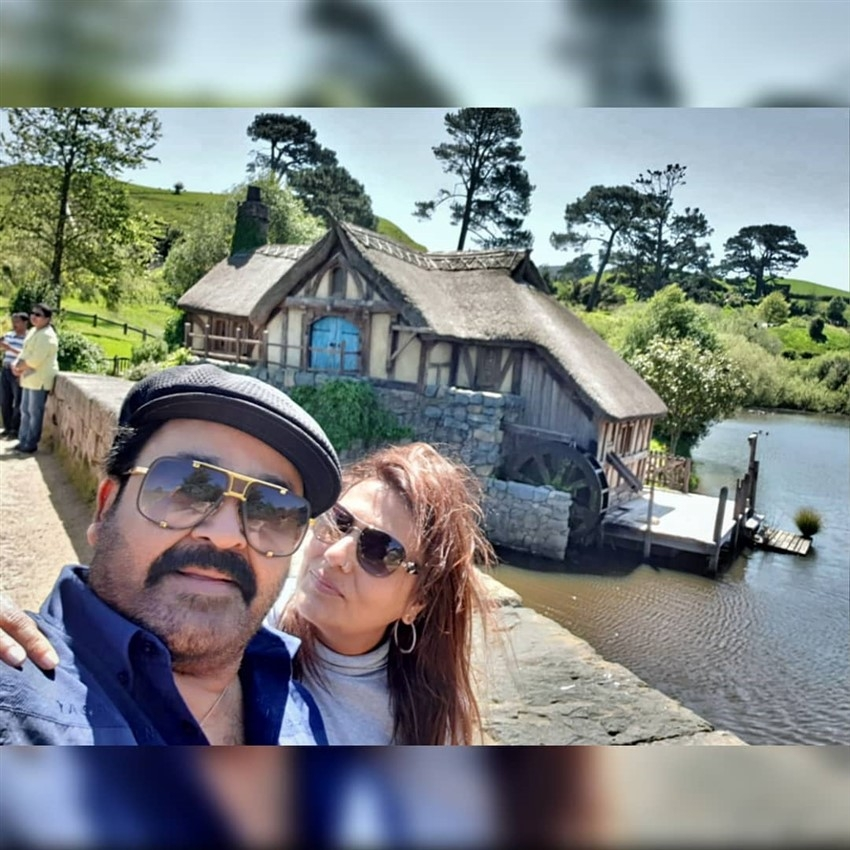 Mohanlal And His Wife Suchitra Mohanlal Enjoying Her Vacation Photos