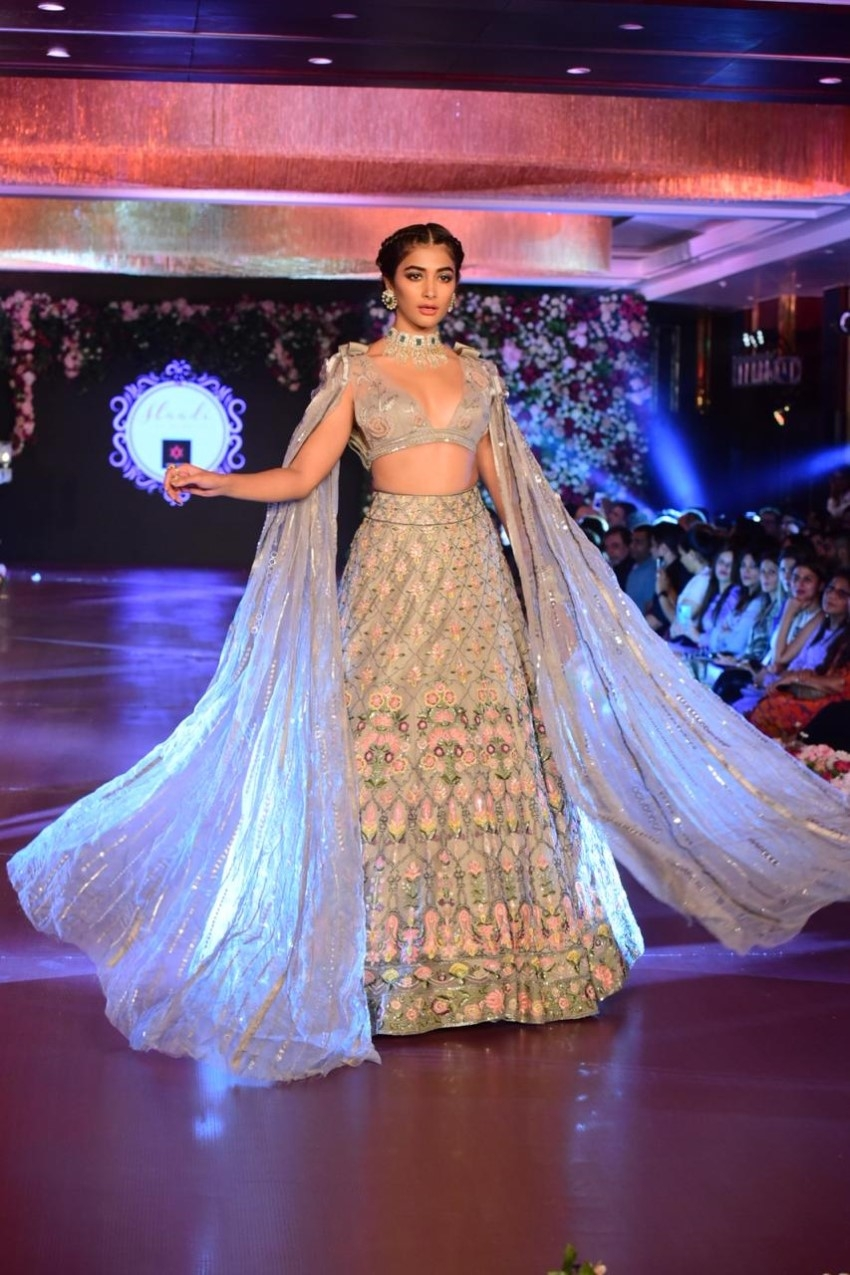 Pooja Hegde Turns Showstopper For Manish Malhotra Wedding Collection Photos