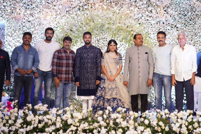 Producer Lakshman's son Ujwal Engagement Stills Photos