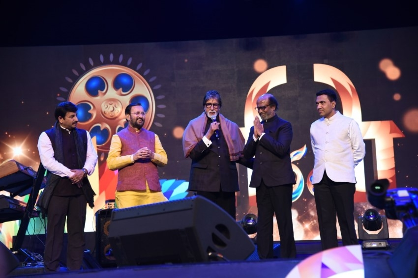 Rajinikanth, Amitabh Bachchan & Others at The Golden Jubilee Edition Of IFFI Photos