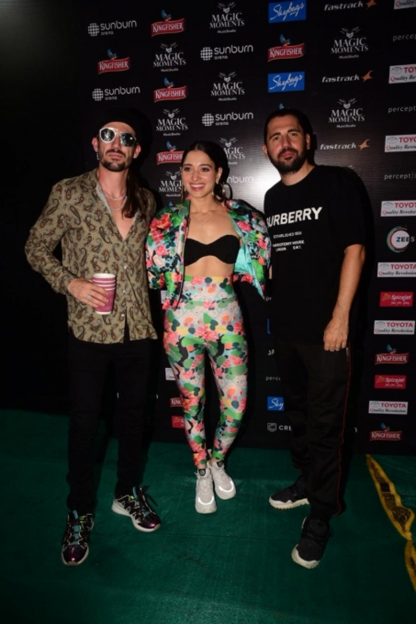 Tamannaah Bhatia With World No 1 DJ Duo Dimiti Vegas Photos