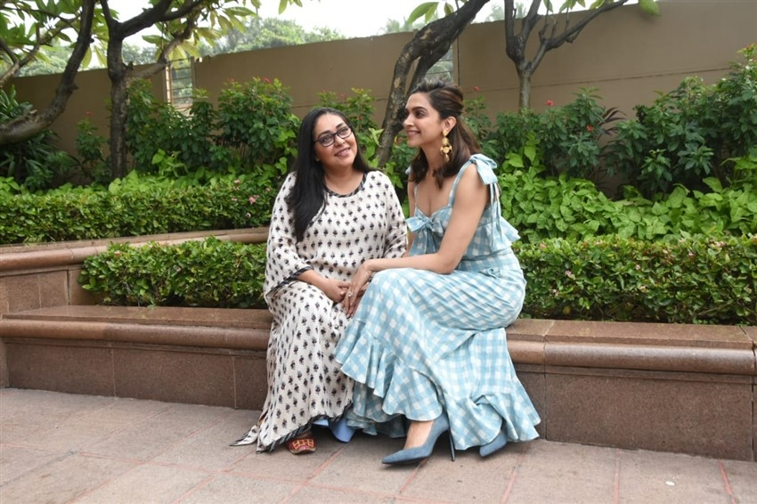Deepika Padukone and Meghna Gulzar snapped promoting their film Chhapaak in Mumbai Photos
