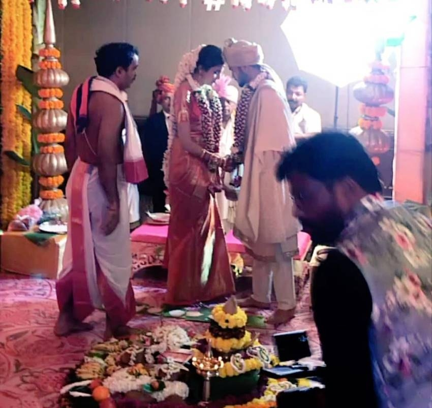 India cricketer Manish Pandey And actress Ashrita Shetty Wedding Photos