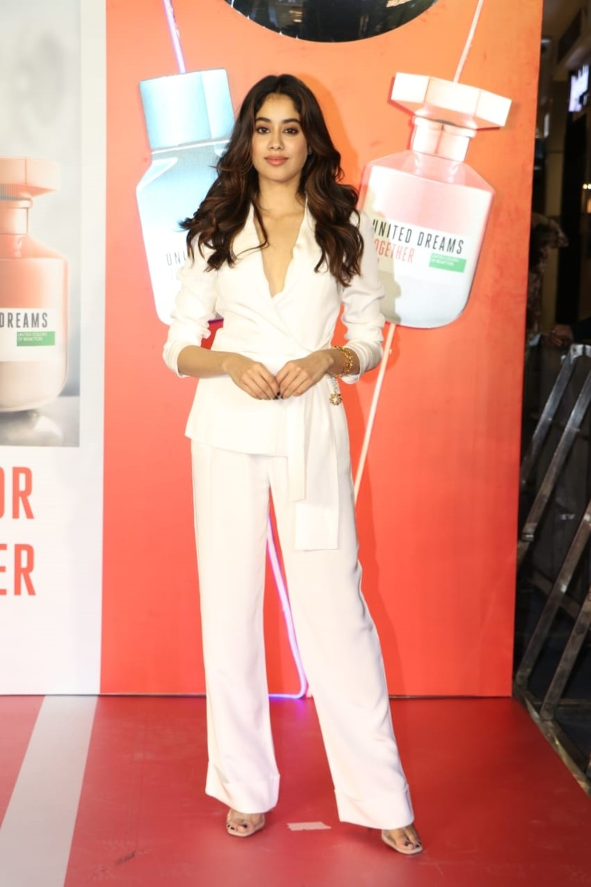 Janhvi Kapoor at the launch of United Colors of Benetton Fragrance Photos